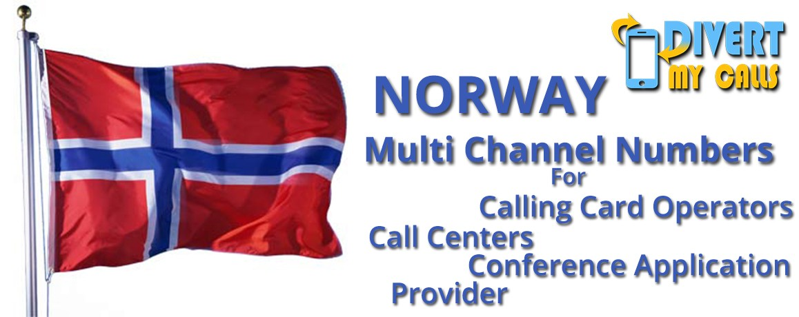 Norway Virtual  Numbers with unlimited channels for Calling Cards &  Call Centers