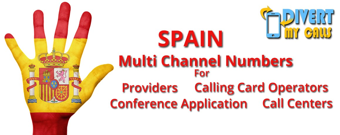 Spain Virtual Phone Numbers with unlimited channels for Calling Cards &  Call Centers