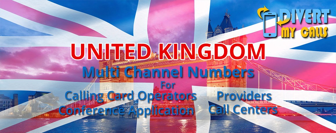United Kingdom Virtual Numbers with unlimited channels for Calling Cards &  Call Centers