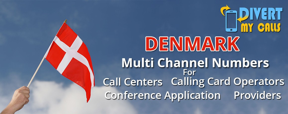 Denmark Virtual Phone Numbers with unlimited channels for Calling Cards &  Call Centers